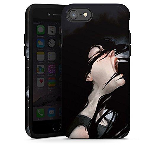Apple iPhone X Silikon Hülle Case Schutzhülle Schrei Mädchen Kunst Tough Case glänzend