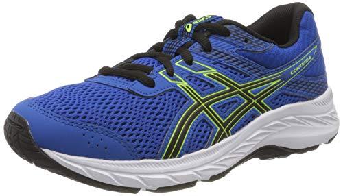 ASICS Unisex-Child Contend 6 GS Running Shoe, Tuna Blue/Black