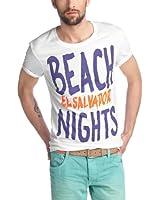 edc by ESPRIT Herren T-Shirt Slim Fit 053CC2K029
