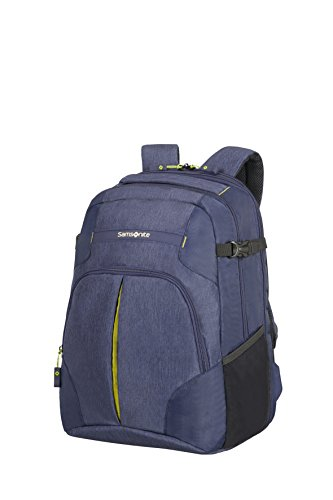 Samsonite Rewind Mochila Tipo Casual Expansible para Portátil, 45 cm, 34 L, Color Azul (Dark Blue)