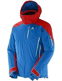 Salomon–Chaqueta de esquí, color azul / rojo, tamaño small