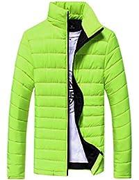 VICGREY ❤ Giacca Invernale Cappuccio da Uomo Antivento Uomo Imbottito  Cappotto Collare Eco-Pelliccia Caldo 438329f350d