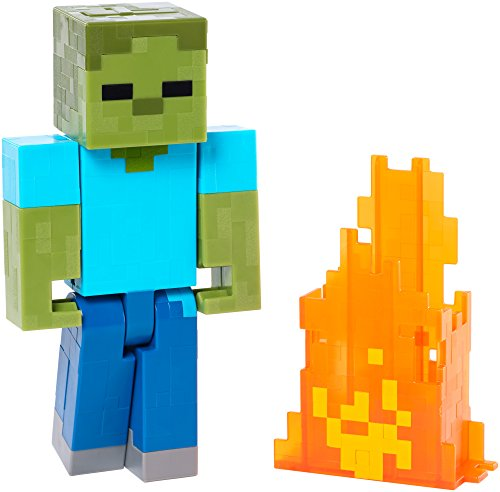 Minecraft Series 2 Zombie with Pop Out Flames Action Figure by Mattel