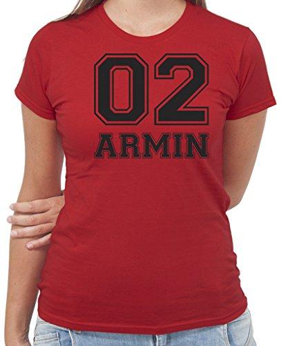 T-Shirt ARMIN ATTACK ON TITAN CORPO DI RICERCA - ANIME E MANGA - by New Indastria Rossa