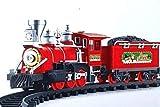 ambestore XXL Zug Train Weihnachtszug Eisenbahn Lokomotive Waggons Schienen Licht & Sound Weihnachten Weihnachtsdekoration Kinderspielzeug