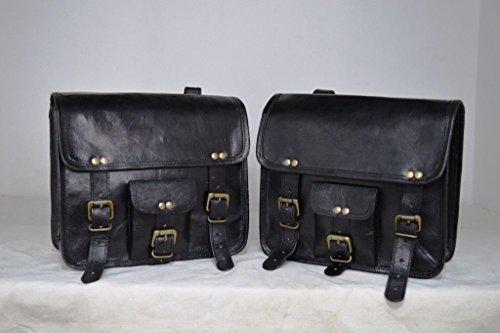CL 2 X Motorrad Seitentasche Braun Leder Seitentasche Satteltaschen Satteltaschen (2 Taschen) Vor Valentinstag Sonderangebot!