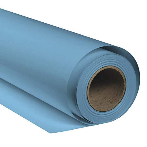 BRESSER SBP20 Fond de Studio Papier sur Rouleau 1,36x11m Bleu mer