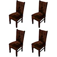Zhihong - 4 fundas para respaldo de silla universales y lavables - Para restaurantes, bodas, decoración