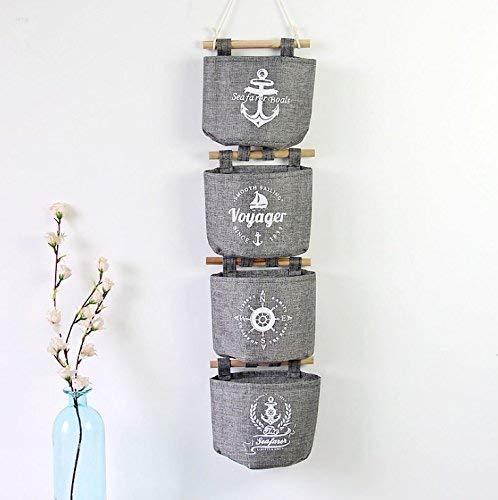 Tclothing aufbewahrungsboxen Box Ebeta Hängende Tasche Aufbewahrungstasche Hängeorganizer Wand Tür Organizer Utensilientasche 4er Set Grau Bett kleiderschrank -