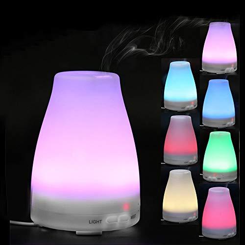 Luoluoluo Vaporizzatore Ambiente,Diffusore di Aromi,Aromaterapia Diffusore - LED Aria Aromaterapia Olio Essenziale Diffusore Aroma Umidificatore Purificatore Mist Maker (bianco)