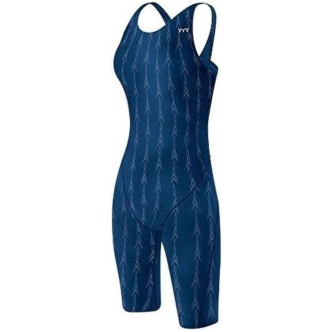Costume da gara Short John FUSION 2 TYR Donna approvato FINA 30 - Blu Navy