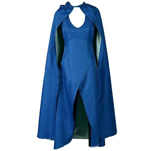 Daenerys Targaryen Kleid Blau - ETASSO Damen Game of Thrones Daenerys
