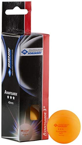 Donic-Schildkröt Tischtennisball 3-Stern Avantgarde,  Poly 40+ Qualität, 3 Stk. im Karton, orange, 608338