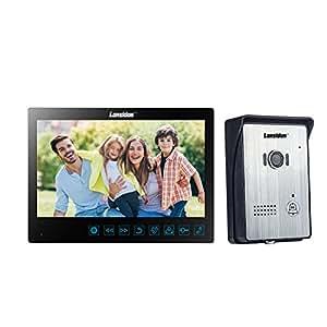 Lansidun Video Türklingel 10 Zoll verdrahtete Türsprechanlage Intercom Monitor System mit Videoaufnahme Snapshot und Night Vision für Home Security