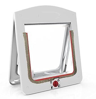 Chatière, gabarit d?installation facile pour installer votre porte pour chat en toute facilité, Chatière Tigga 4 positions verrouillables