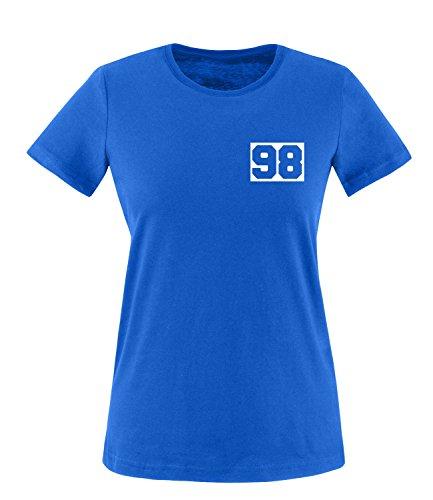 Luckja Wunschnummer T-Shirts für Damen und Herren Damen/Royal/Weiss