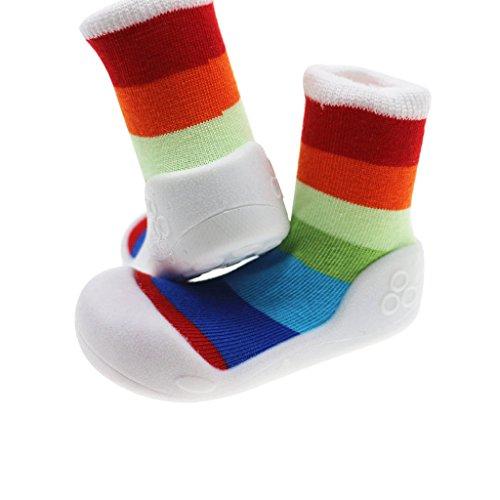 c4d2685915a72 Chaussettes Bébé Garçon Fille Anti-dérapant Chaussons Chaussures pour  Tout-petits