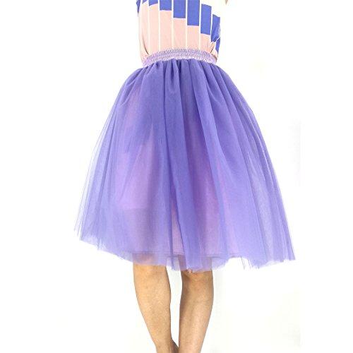 Honeystore Damen's Petticoat 50er Jahre von Honeystore, Retro-Faltenrock perfekt zu Strick und Heels oder Sneakers, Unterrock für Hochzeit und Party M Violett (Schuluniform Im Karo-rock)
