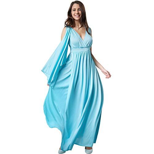 dressforfun 900548 - Damenkostüm Göttin der Freiheit, Ärmelloses Gewand im antiken Stil mit angenähter Schärpe (S | Nr. 302518)