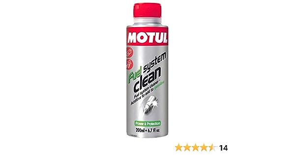 Motul Kraftstoffreiniger Fuel System Clean Speziell 4t Zweiräder 200ml 104878 Sport Freizeit