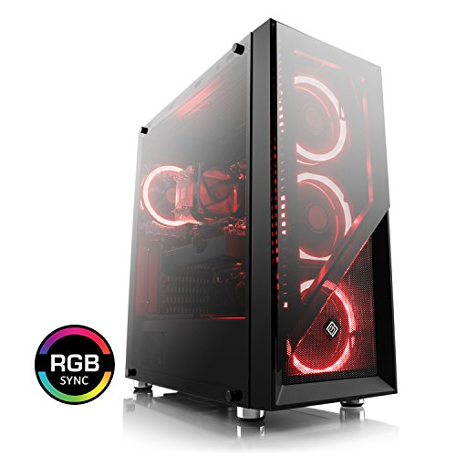 CSL Speed 4993 (Core i7) Gamer PC - Intel Core i7-8700 6X 3200MHz, 8GB DDR4 RAM, 240GB SSD, 1000GB Festplatte, GTX 1070 Ti, DVD, USB 3.1 -