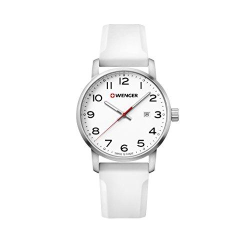 WENGER Reloj Analogico para Unisex de Cuarzo con Correa en Silicona Sport Avenue 01.1641.106