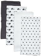 Care Baby Mullwindeln/Spucktücher im 4er Pack, 70x70 cm, All over print, Gr. One size (Herstellergröße: 70X70), Mehrfarbig