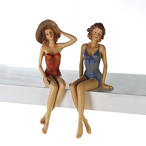 Figur Frauen Kantensitzer Lady Figur