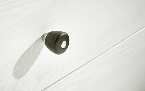 Peter ANLL711031 TV Board Unterteil Lowboard Landhausstil fernseher schrank Unterschrank, möbel, Holz, weiß, 40.0 x 136.0 x 59.0 cm - 2