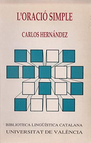 L'oració simple (Catalan Edition) por Carlos Hernández