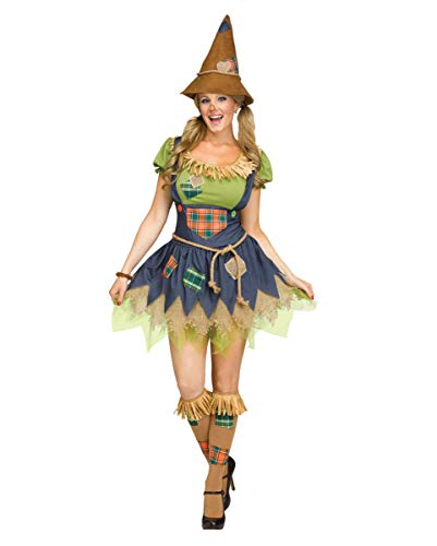 Horror-Shop Süßes Vogelscheuchen Mädchen Erwachsenen Kostüm für Halloween und Karneval - Scarecrow Kostüm Mädchen