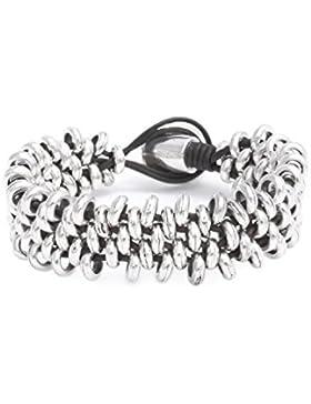 [Gesponsert]Beau Soleil Jewelry Armband Lederarmband Schwarz Damen Herren Ibiza Schmuck aus Leder