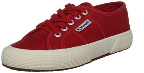 Superga 2750 Jcot Classic, Sneakers basses mixte enfant - Rouge (975 Red), 36 EU