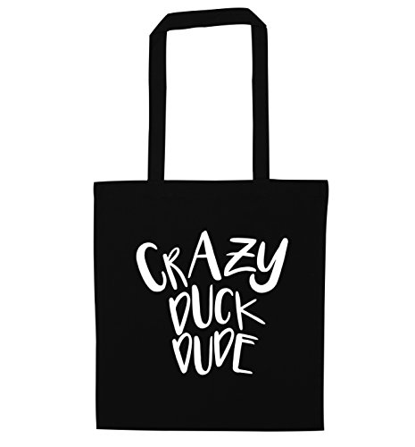 Crazy duck dude tote bag