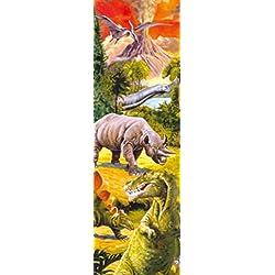 Dinosaurios - Collage, Mundo Dino, 1 Parte Póster Fotomural (250 x 79cm)