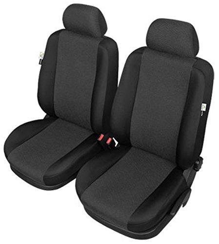 ZentimeX Z977099 Sitzbezüge Vordersitze Stoff schwarz Airbag-Kompatibel