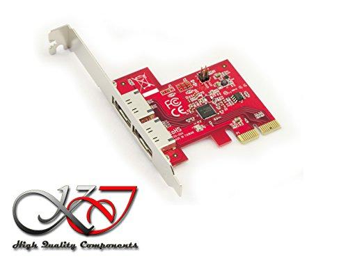 Kalea Informatique Karte Controller PCIe eSATA 3.0-2Ports-Halterung Port Multiplier bis A 10Scheiben.-Professionelle/Komponenten, hochwertig-Windows Mac Linux - Esata-karte