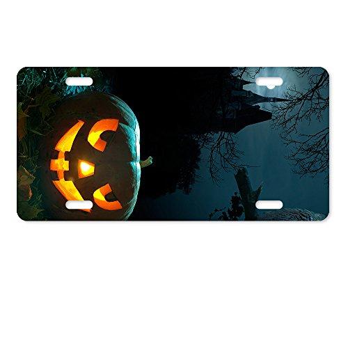 warrantyll Neuheit Metall Licht Kürbis Halloween castle Tüllen Lizenz Platte 6von 30,5cm