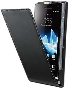 Muvit SESLI0018 Etui pour Sony Xperia P Noir