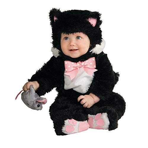 Inky Black Kitty Jumpsuit Baby Costume 12-18 Month (Black Kitty Kostüm Baby)