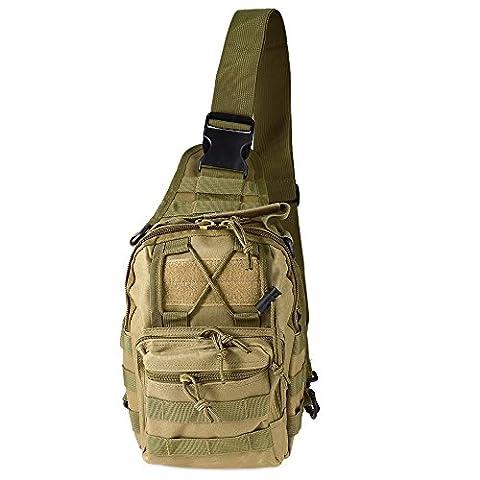 Outdoor Assault Sling Messenger Bag Tactical Shoulder Bag Camping Travel Hiking Trekking Backpack
