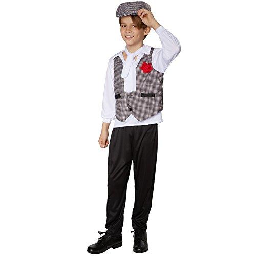 TecTake dressforfun Jungenkostüm Swinging Charlston   Edel wirkende Kombination aus Hemd und Weste   Stilvolle, Lange Hose in schwarz   Inkl. schönem Halstuch (104   Nr. 301571)