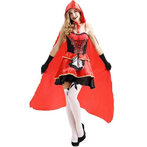 Cosplay Kostüm Halloween ALISIAM Damen Korsagekleid Steampunk Gothic Kostüm Rotkäppchen Dienstmädchen Hexe Cosplay Kleid (Machen Königin Der Herzen Kostüm)