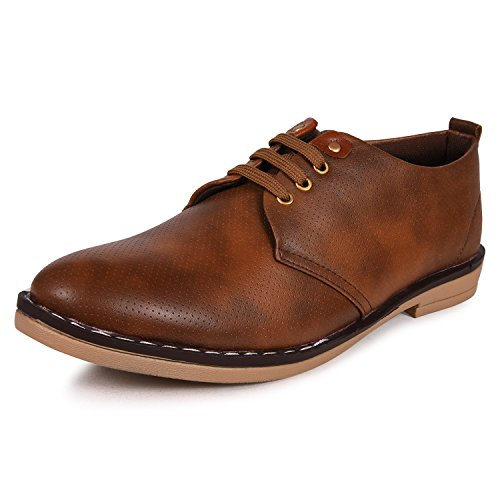 Arthur Men's Brown PU Corporate Casual Shoes  available at amazon for Rs.499