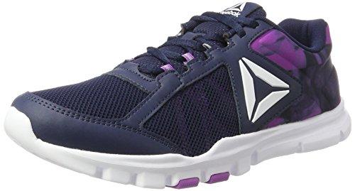 Reebok Damen Yourflex Trainette 9.0 MT Gymnastikschuhe, Blau (Collegiate Navy/Vicious Violet/White), 39 EU