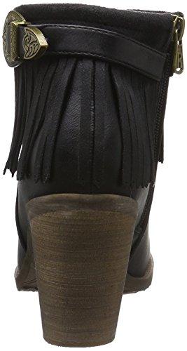 Cowboy Refresh negro Stiefel Schwarz 62231 Damen OqfUP