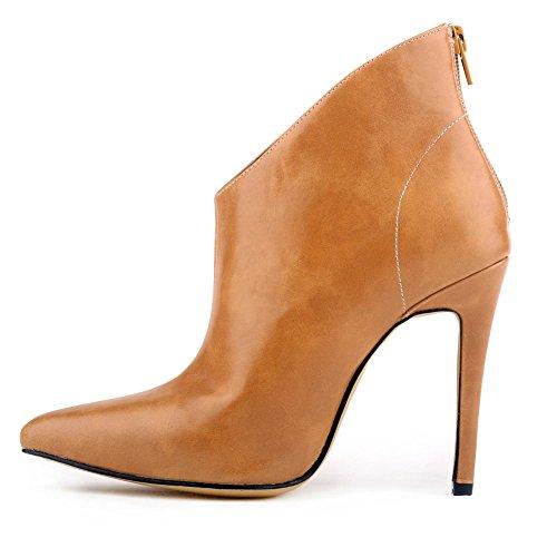 Boots à talon Bottine Femme classique Kaki