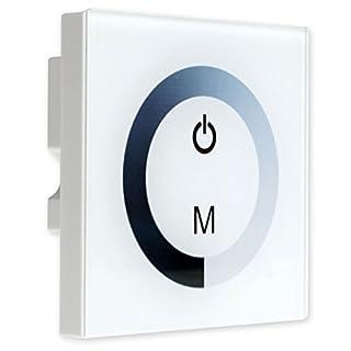 Wandschalter Touch Schalter Tippen Dimmer Regler Schieberegler 12V 24V 8A für LED Einstellung Leuchtbändern Weiß