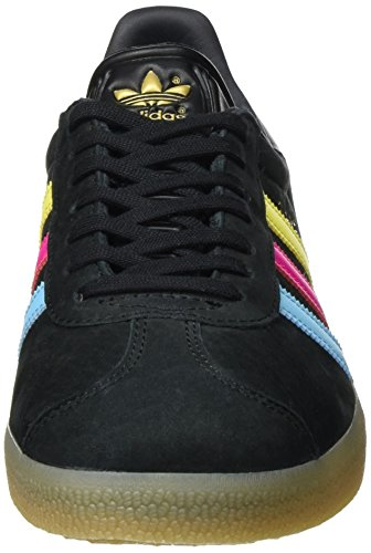 adidas Gazelle, Scarpe da Ginnastica Basse Unisex – Adulto Nero (Core Black/bright Cyan/shock Pink)
