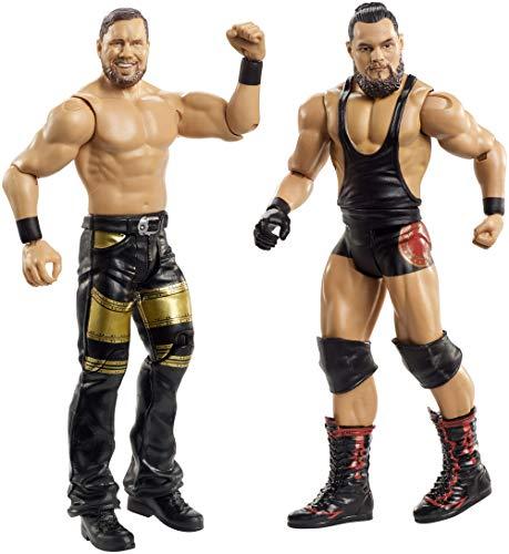 WWE- Pack de 2 Figuras de acción, Bo Dallas y Curtis Axel (Mattel GBN50)